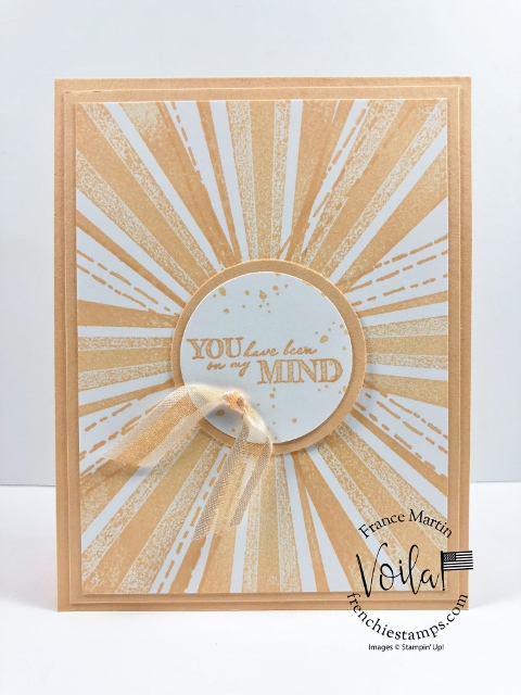 In Color 2021-2023 Sunburst Card with After the Storm stamps set.