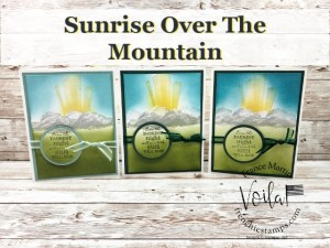 Sunrise Over The Mountain With After The Storm Stamp Set