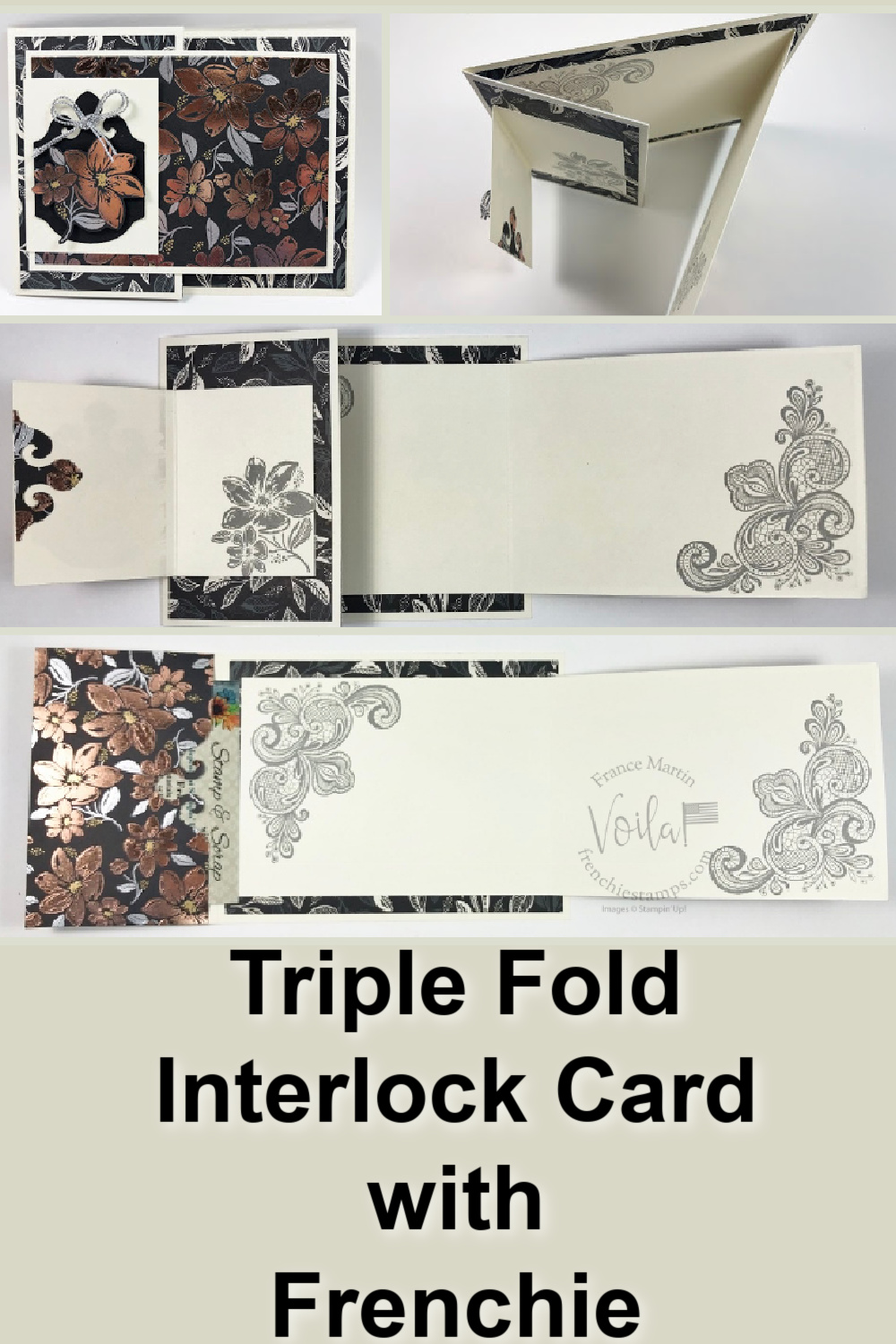 Triple Fold Interlock Card with Simply Elegant Specialty Paper.