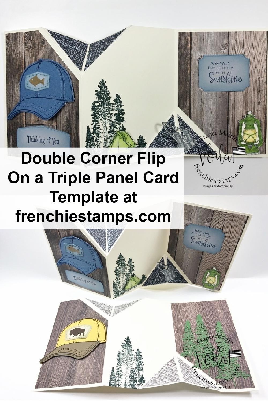 Fun Fold Double Flip Corner On Triple Panel Card