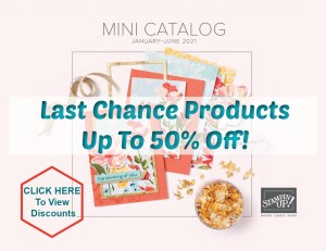 Last Chance Product from the Mini Catalog Jan-June 2021.