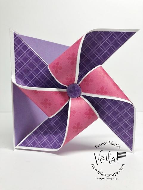 Fun Fold Pinwheel Card.