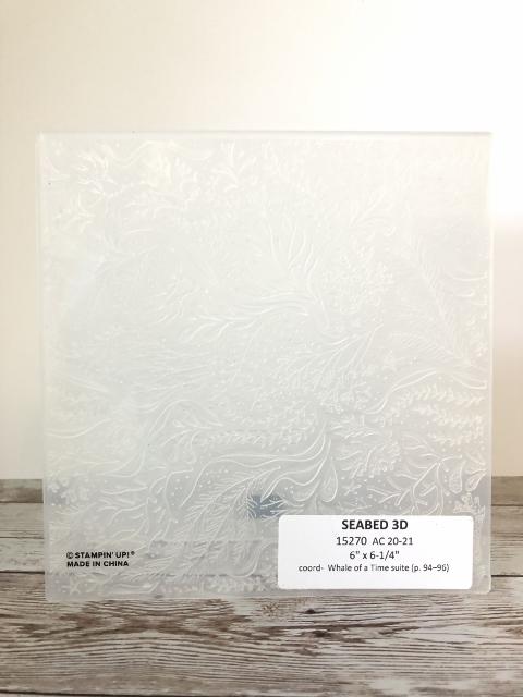 Seabed 3D Embossing Folder