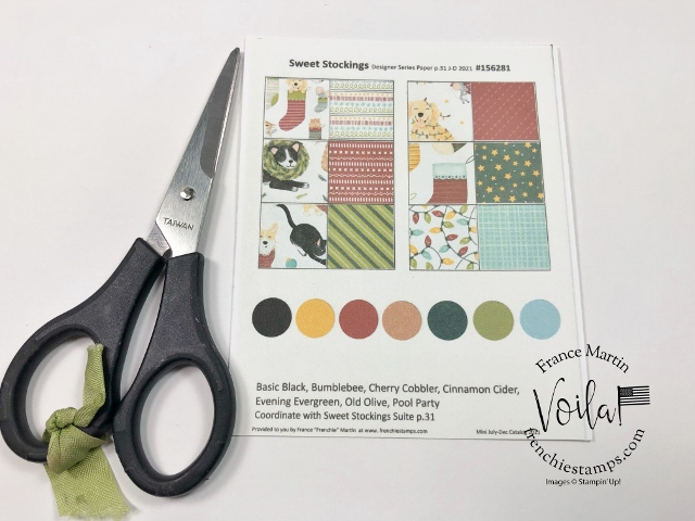 Designer Paper Chart with color coordination