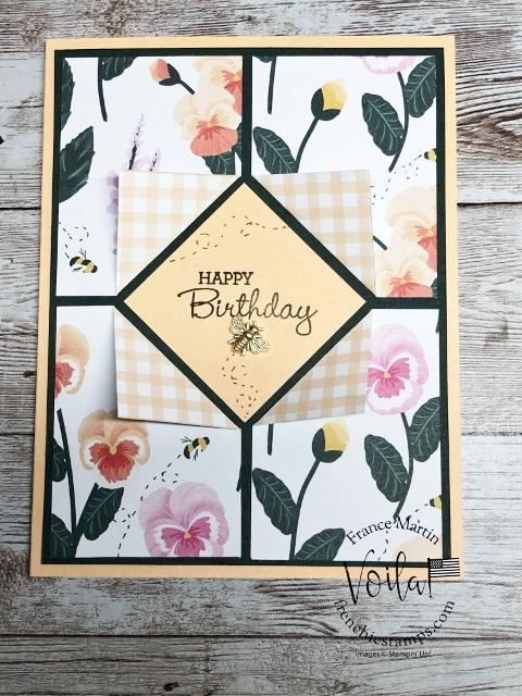 Four Corners Flip Fold Frame card with Designer paper.