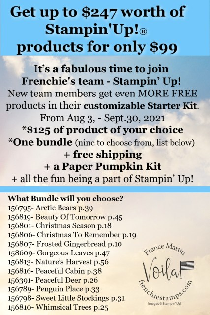 Join My team up to $247 of Stampin'Up! product for $99