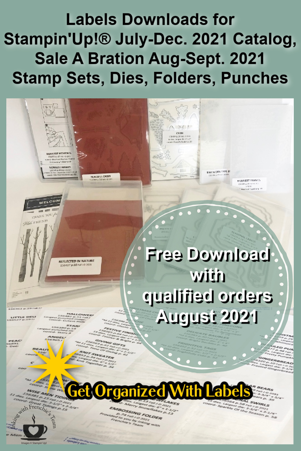 Labels to organize your Stampin\'Up!® products from the July-Dec. 2021 catalog.