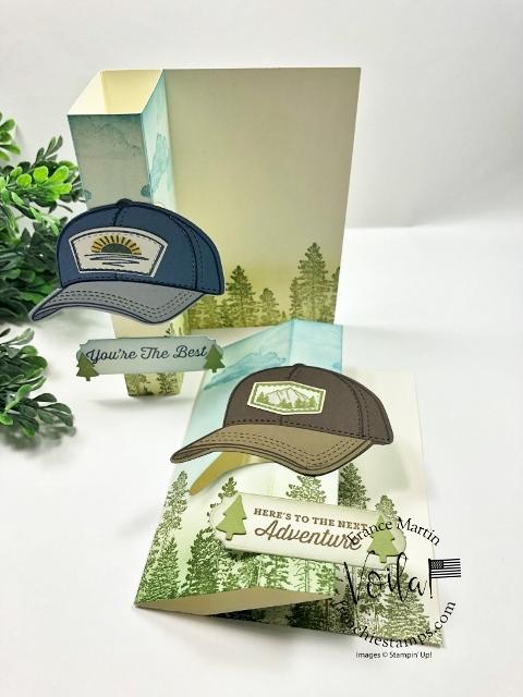 Fun Fold card With A Pop Up Flip Hat