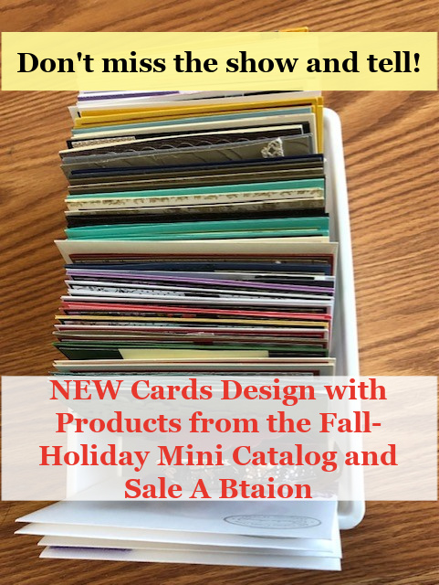 Card with product from the Fall-Holiday catalog 2021 made by Frenchie Stamps.