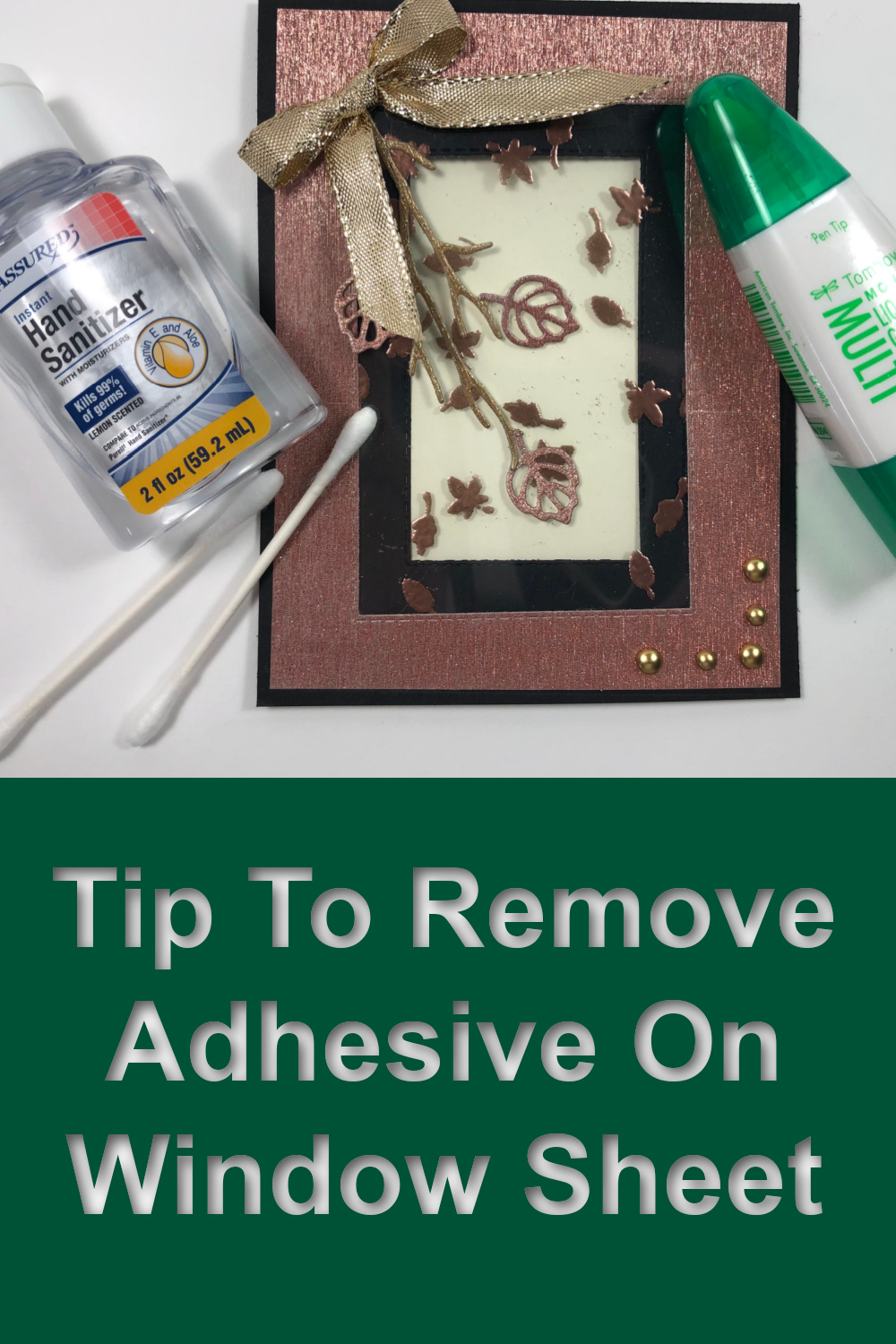 Tip Video On How To Remove Adhesive On A Window Sheet