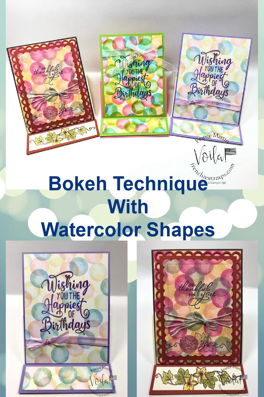Bokeh Technique With Watercolor Shapes