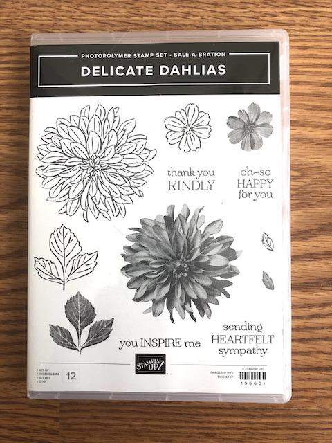 Delicate Dahlias Stamp Set