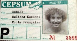 Blast from the past (complete with 80's hairdo)! This is my ID card from the Université de Montréal where I spent three weeks in an intensive French immersion course. I attended just after my first year of teaching French.