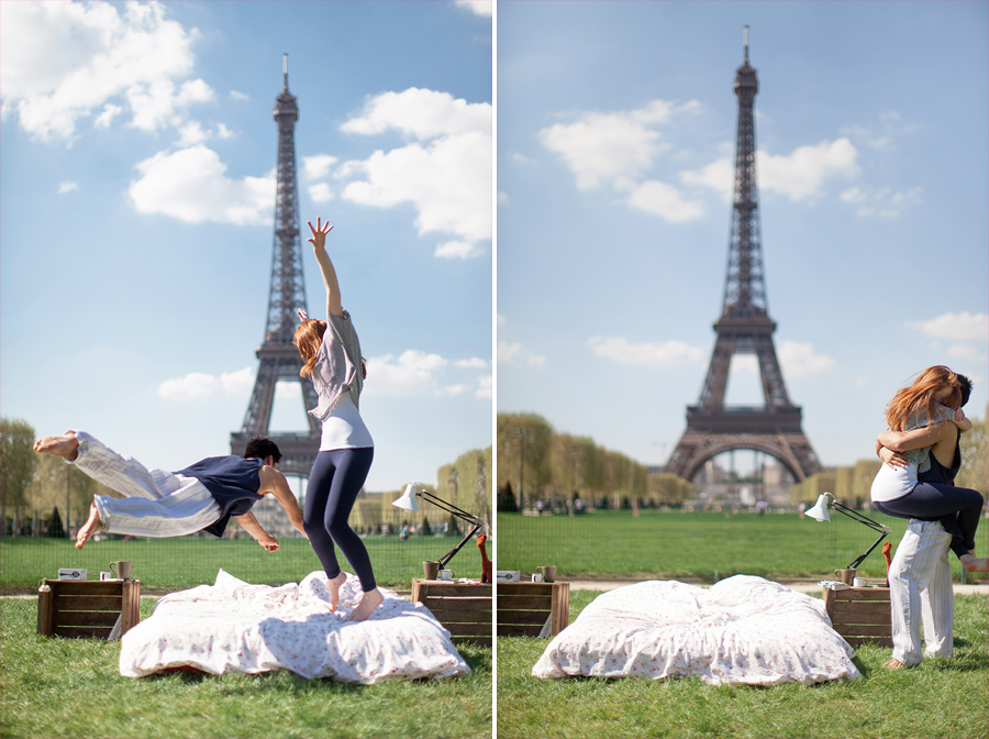 photo-shoot-at-the-eiffel-tower-with-a-bed-and-pajamas-10