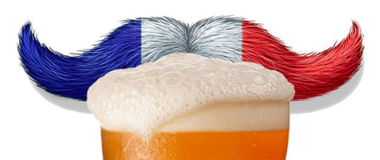 Fun graphic about beer in France with a mustache.