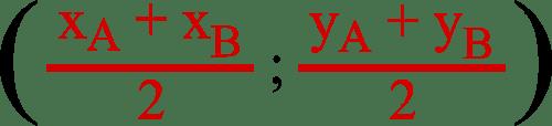 géométrie formule milieu segment