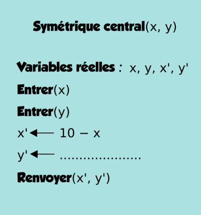 Géométrie 2D, algorithmique, milieux, distances, seconde