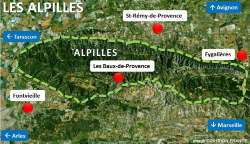 Alpilles Map by French Moments