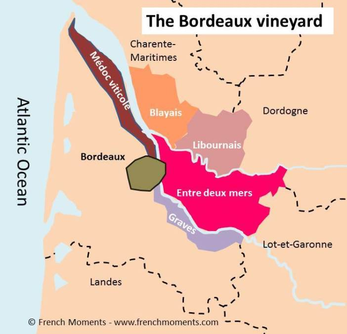 Bordeaux Vineyard Map © French Moments
