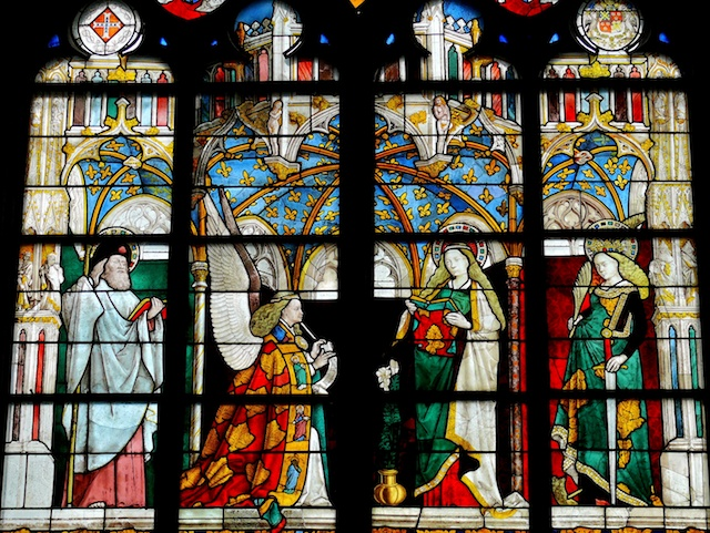 Annunciation Jacques Cœur Chapel (Annunciation Window), Bourges Cathedral © Photo: Mossot, Creative Commons (CC-BY-SA-3.0)