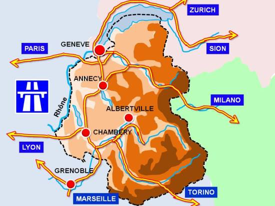 Road map of Savoie © French Moments