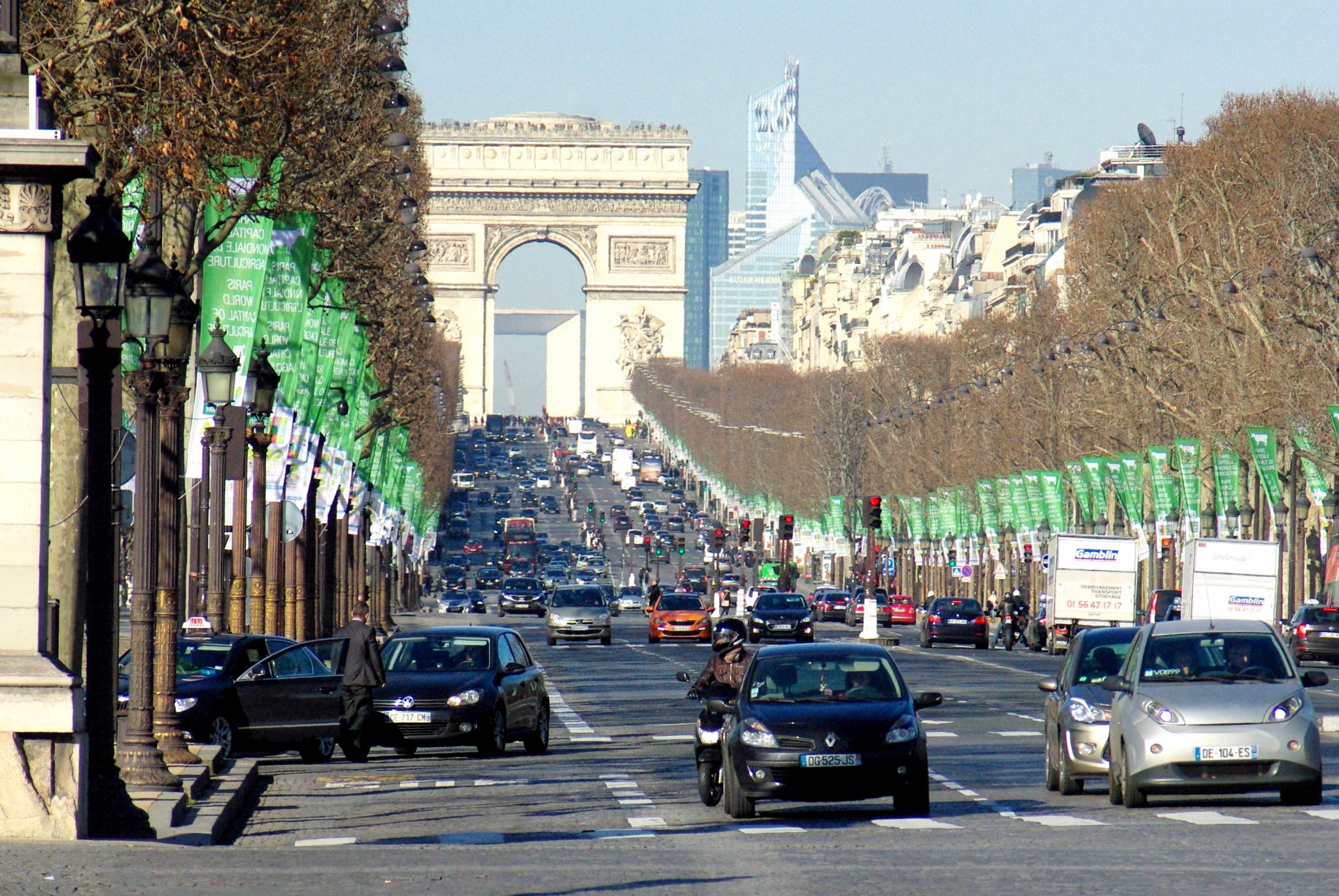 Champs Elysees Arc De Triomphe French Moments