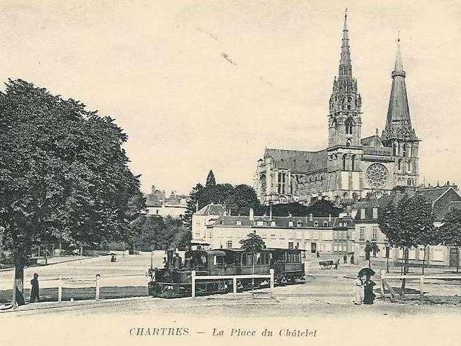 Chartres Cathedral at the beginner of the 20th C