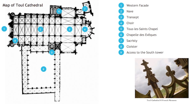 Toul Cathedral Floor Map
