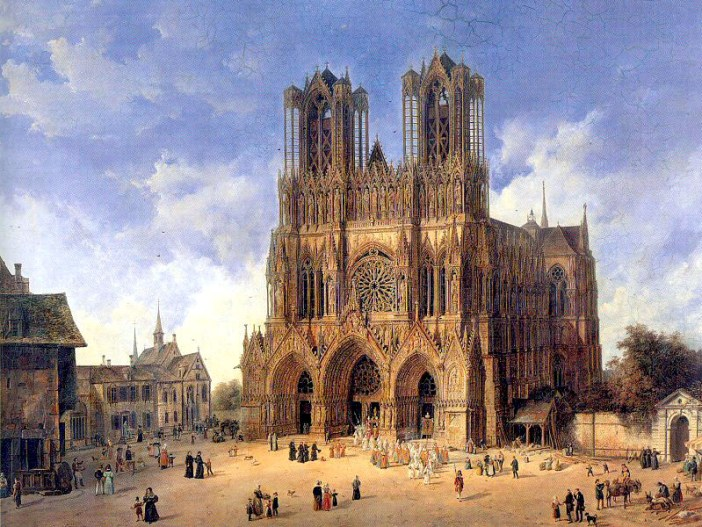 Reims Cathedral in the 19th century