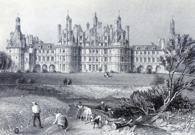 Engraving of the château circa 1860