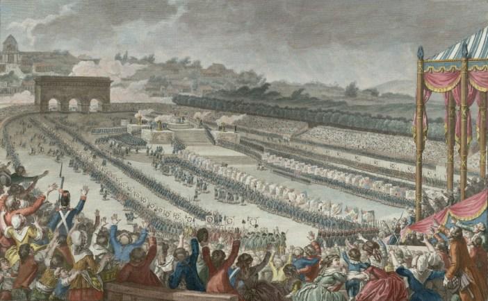 Fête de la Fédération 14 Juillet 1790 as seen form behind the King's tent