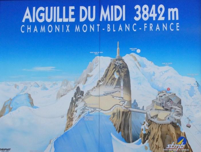 Map of the Aiguille du Midi © Olivier Risnes