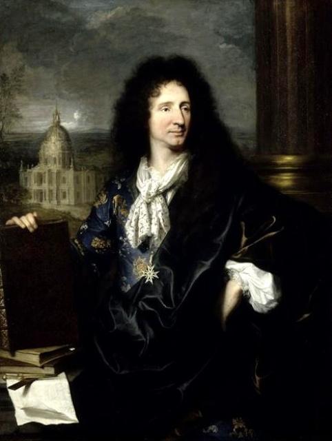 Jules Hardouin Mansart (1784-1844) painted by Hyacinthe Rigaud (1659-1743)