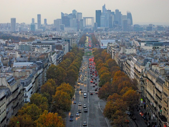 The Historical Axis of Paris from Arc de Triomphe © French Moments
