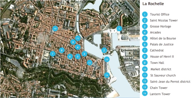La Rochelle Map by French Moments French Moments