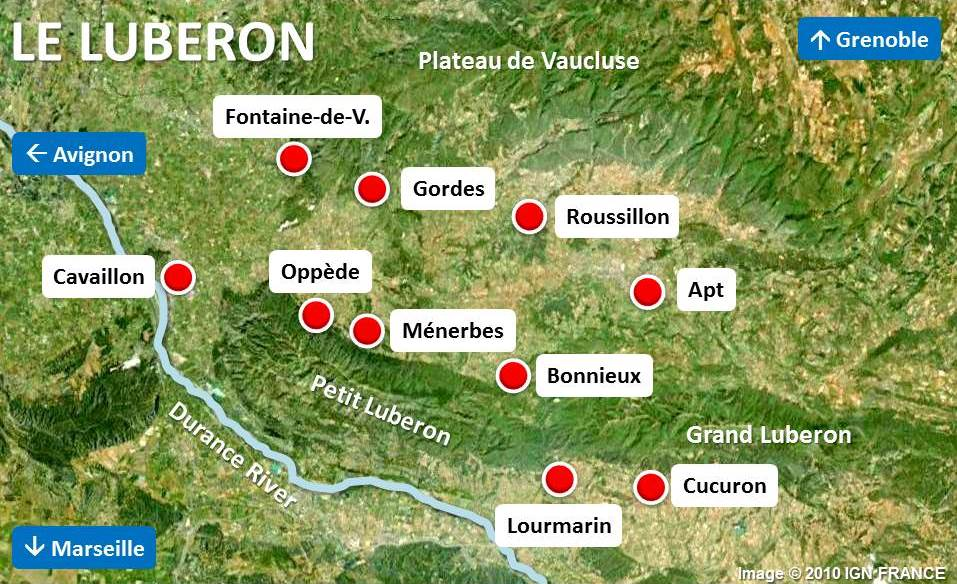 Map of Luberon by French Moments - French Moments
