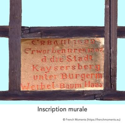 Maison Alsacienne Inscription murale © French Moments