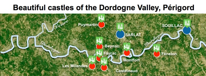Maps of Dordogne Valley Périgord Noir - Beautiful Castles