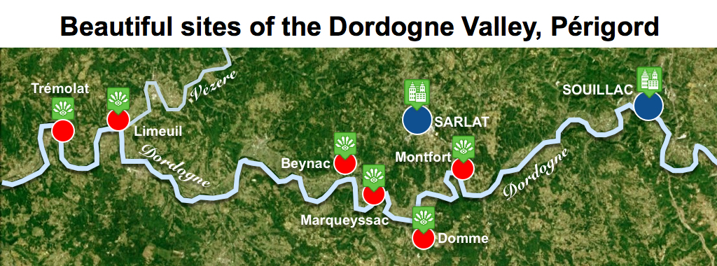 Maps of Dordogne Valley Prigord Noir  Beautiful Sites  French