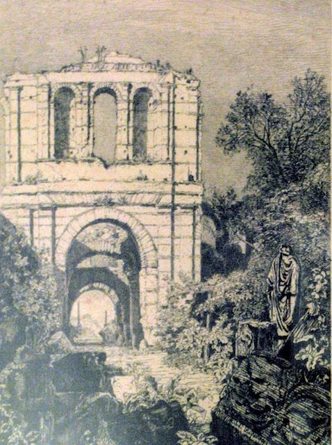 Roman ruins of Gallian Palace in Bordeaux (19th C)