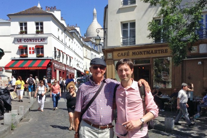 Pierre with Phil from Australia on a Montmartre Walking Tour © French Moments