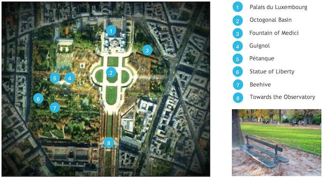 Jardin du Luxembourg Map
