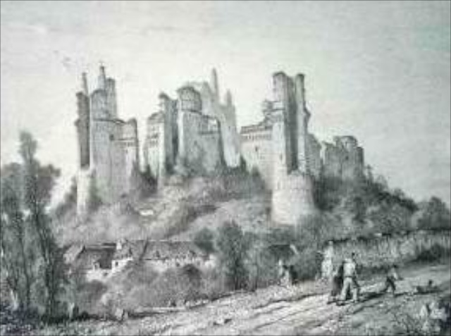 The picturesque ruins of Pierrefonds in 1860