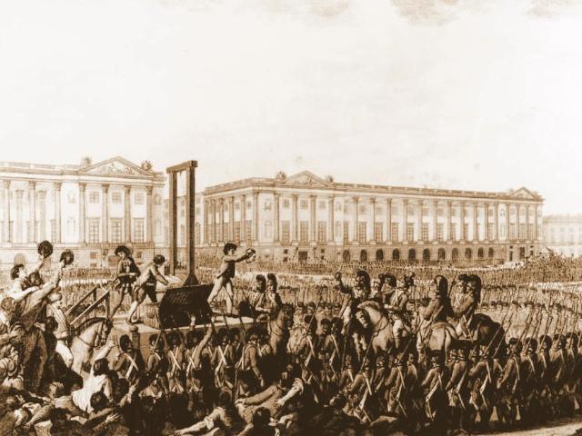 Execution of Louis XVI on Place de la Concorde