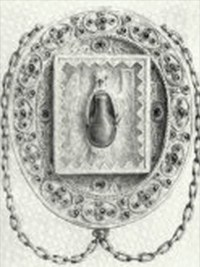 Engraving depicting the Holy Ampulla