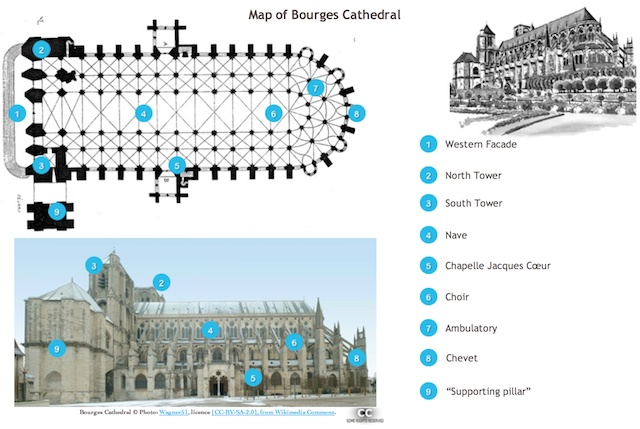 Floor map of Bourges Cathedral French Moments