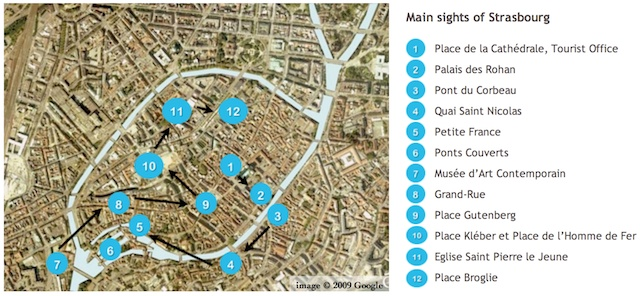 Map of Strasbourg Old Town
