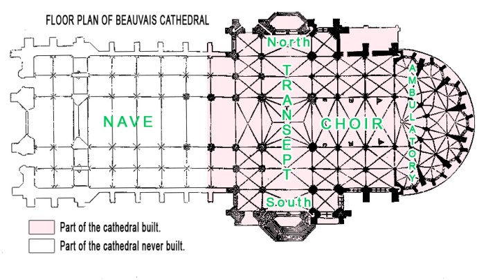 Beauvais Cathedral Floor Plan by French Moments