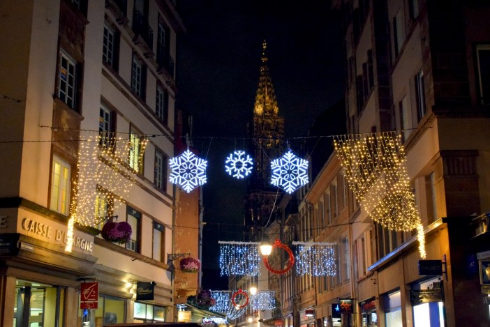 Christmas illuminations in Rue Gutenberg, Strasbourg © French Moments