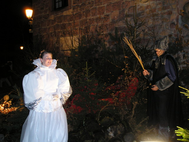 Christkindel and Hans Trapp in Wissembourg © Mairie de Wissembourg